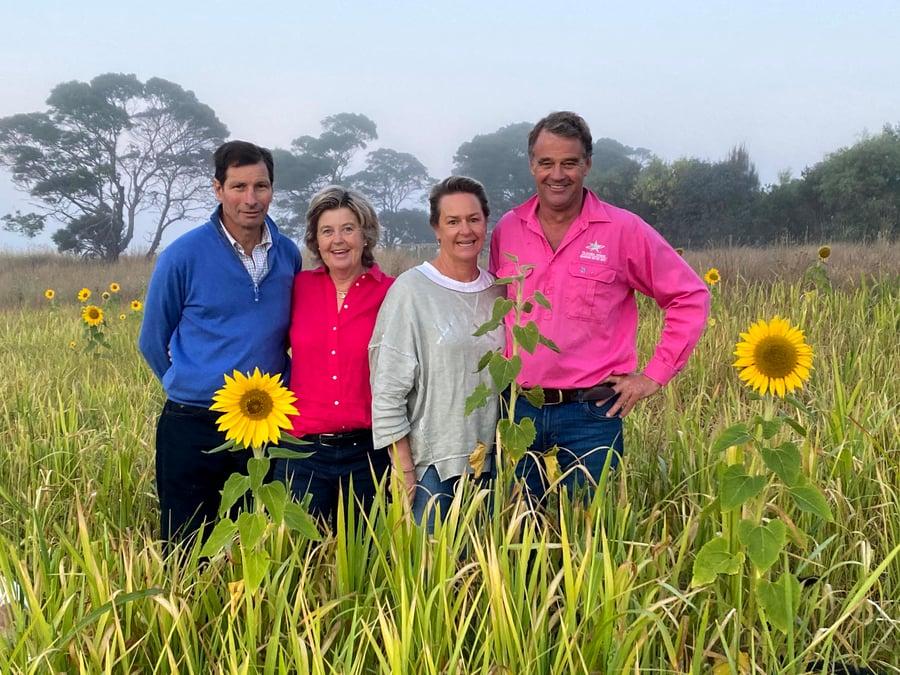 Hamish and Amanda McFarlane with Lucy and Tom Gubbins